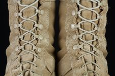 Army Combat Boots - Laces Royalty Free Stock Image