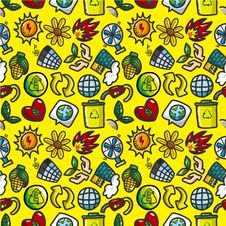 Free Seamless Eco Icon Pattern Royalty Free Stock Photos - 20574088