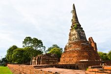 Free Historic Site  In Ayutthaya Of Thailand Royalty Free Stock Images - 20574309