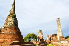 Free Historic Site  In Ayutthaya Of Thailand Royalty Free Stock Photo - 20574315