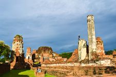 Historic Site  In Ayutthaya Of Thailand Stock Photography