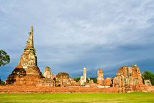 Free Historic Site  In Ayutthaya Of Thailand Royalty Free Stock Photo - 20574365