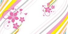 Floral Abstract Design Element Royalty Free Stock Photo