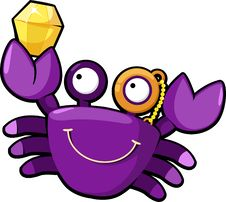 Free Illustration Crab Vector Royalty Free Stock Photos - 20574638