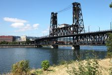 Free The Steel Bridge A Busy Thoroughfare, Portland OR. Royalty Free Stock Photo - 20574825