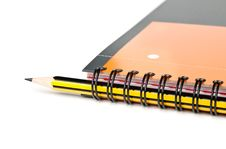 Free Spiral Notebook And Pencil Royalty Free Stock Photo - 20575035