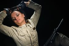 Free Army Girl Stock Photography - 20575182