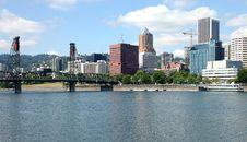 Free Portland Oregon Skyline. Royalty Free Stock Photos - 20575208