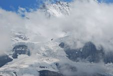 Snow Mountain Of Jungfraujoch Stock Photography