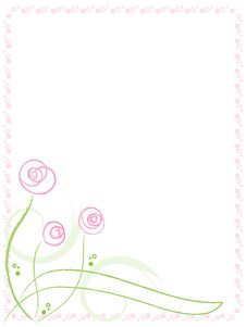 Free Greeting Card With Flowers Royalty Free Stock Image - 20575966
