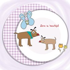 Free Couple Of Happy Dogs Stock Photos - 20576113