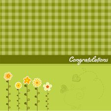 Free Congratulation Floral Card Stock Photography - 20576122