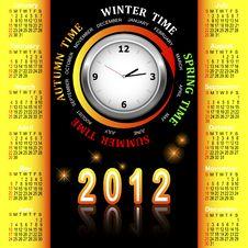 Free American Calendar 2012. Stock Photos - 20576123