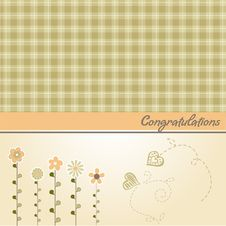 Free Congratulation Floral Card Royalty Free Stock Image - 20576126
