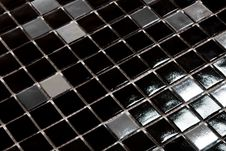 Free Black And Silver Glazed Tiles Royalty Free Stock Photography - 20576177