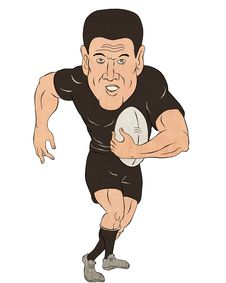 Free Rugby Player Running With Ball Stock Photo - 20576500