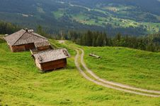Landscape In The Mountains Of Switzerland Stock Photography