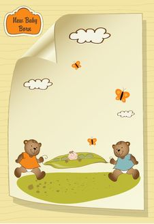 Free Baby Shower Greeting Card Stock Images - 20576724