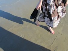 Free Barefoot On The Beach Royalty Free Stock Photo - 20577405