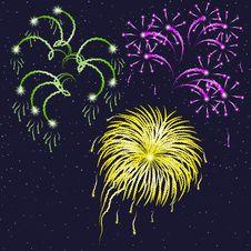 Free Vector Illustration - Firework. Stock Photography - 20579172