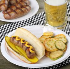 Free Grilled Bratwurst Meal Royalty Free Stock Images - 20579279