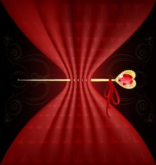 Red Tissue And Golden Pin Royalty Free Stock Photography