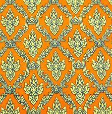 Free Seamless Thai Pattern On Paper Stock Photo - 20579540