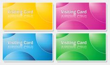 Free Visiting Card - Simple Color Design Stock Photo - 20579550