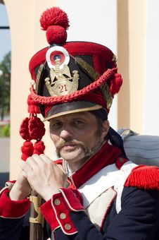 Free Portrait Of Russian Soldier-hussar Royalty Free Stock Images - 20579679