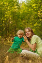 Free Active Baby In Nature With Mother Stock Photography - 20584662