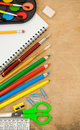 Free School Accessories And Checked Notebook Royalty Free Stock Photos - 20588178