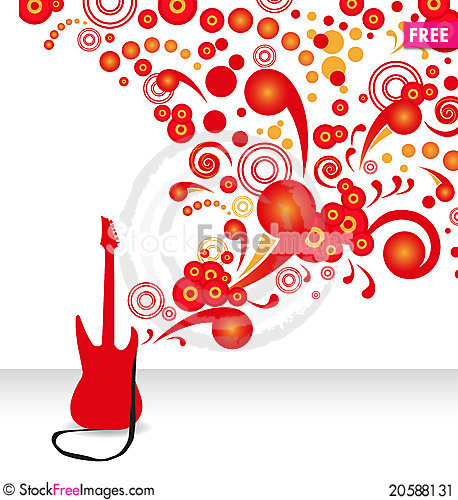 Free Electric Guitar Stock Image - 20588131