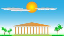 Free Greek Temple. Royalty Free Stock Images - 20580009
