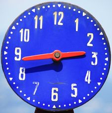 Free Blue Clock Stock Images - 20580104