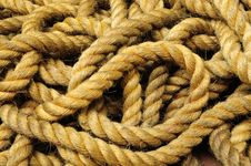 Free Old Coil Rope Royalty Free Stock Photos - 20580338