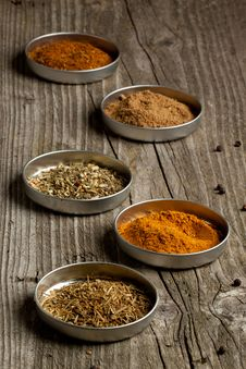 Free Set Of The Spices Stock Photography - 20580782