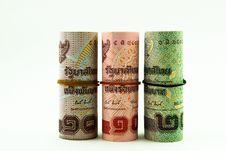 Three Roll Of Money Stock Photography