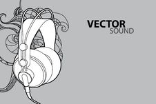 Free Vector Headphones Royalty Free Stock Photos - 20581128