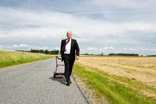 Free Businessman In Wheat Field Royalty Free Stock Photo - 20582475