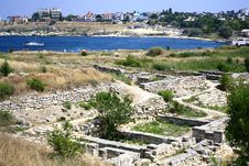 The Ruins Of An Ancient City. Stock Photos