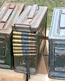 Free Ammunition Containers. Stock Photo - 20583080