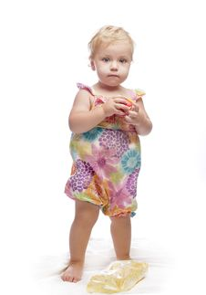 Standing Baby Girl Royalty Free Stock Photos