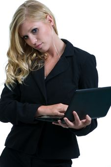 Free Young Girl In The Office Stock Photography - 20583422