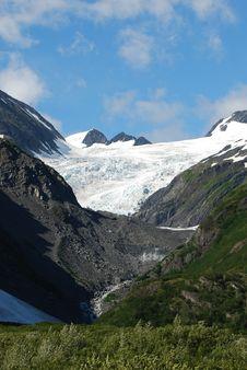 Whittier Alaska Mountain Landscape Royalty Free Stock Photo