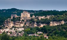 French Hillside Town Stock Image