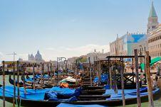 Free Gondolas Near Piazza San Marco In Venice Stock Image - 20584041