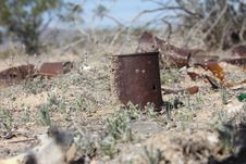 Rusty Cans Stock Image