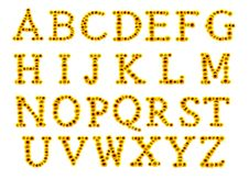 Free Flower Alphabet With Sunflowers Royalty Free Stock Images - 20584529
