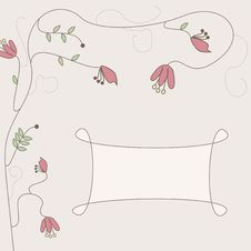 Free Background With Flower Swirls Stock Images - 20584694