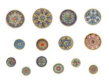 Free 14 Painted Round Wall-plates Stock Image - 20585131